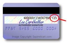 PSRC: Credit Card Security Code